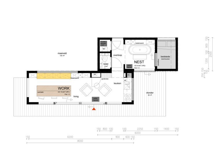Tiny WORK NEST plattegrond